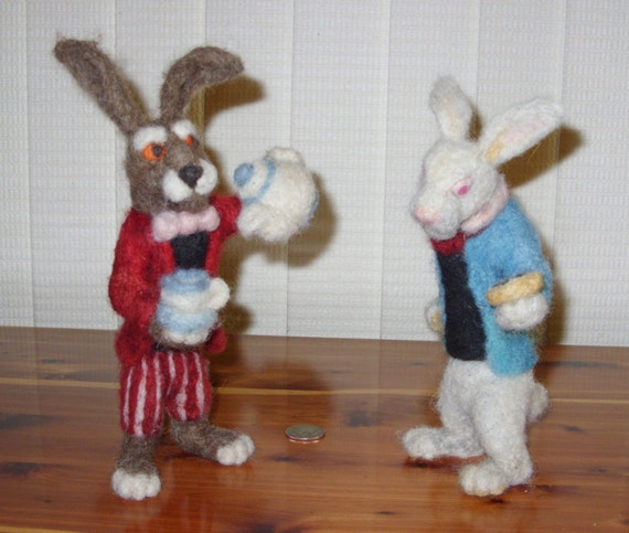 March Hare Alice In Wonderland: March Hare And White Rabbit Figures : Customizable By