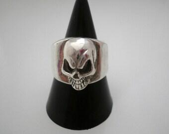 Sterling Silver Skull Seal Ring