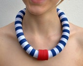 Necklace NAUTICAL - made of colored paper circles