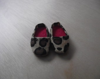 Leopard print slip on flats shoes for Pullip / obitsu