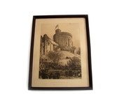 Antique Axel Hermann Haig Antique Original Etching - The Round Tower, Windsor Castle 1887 Framed