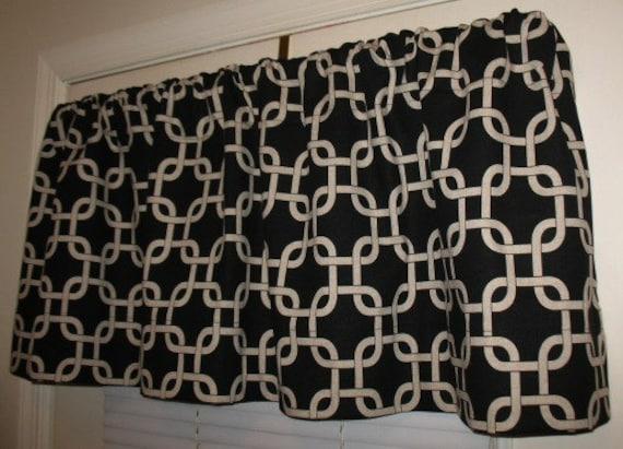 NEW Window Curtain-Valance Premier Prints Black  Gotcha