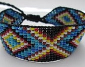 Huichol Native American Inspired Beaded Bracelet or Anklet  - Original Design 22
