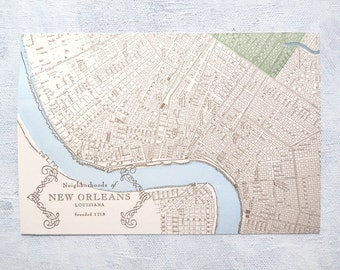 Letterpress Postcard - Mid-City, New Orleans