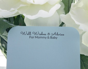 25 Baby Shower Well Wishes & Advice Cards