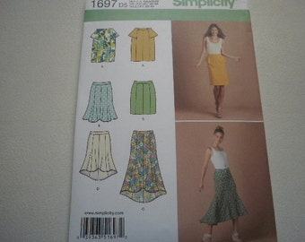 Pattern Ladies Skirts 5 Styles Sizes 4 to 12  Simplicity 1697