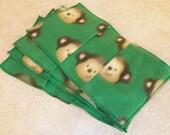 SALE- Half Off- Swiffer Sweeper Fleece Pads Refill- Set of 2- Monkeys
