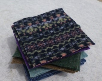 Recycled Wool Squares 4 inches
