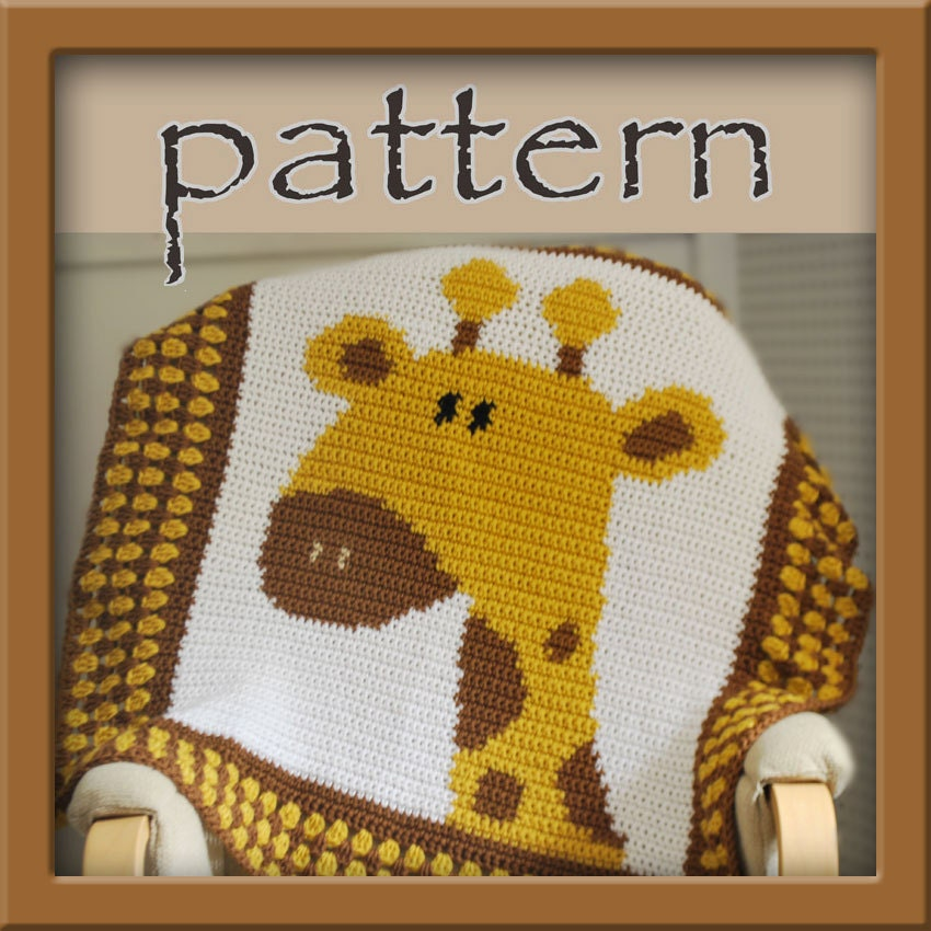 PATTERN Crochet Giraffe Baby Afghan PDF Instant Download