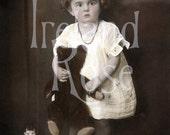 Tilly and Friend-Vintage Photo-Digital Image Download