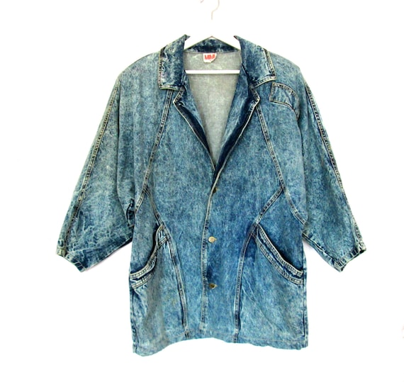80's Acid Wash Oversized Denim Jacket