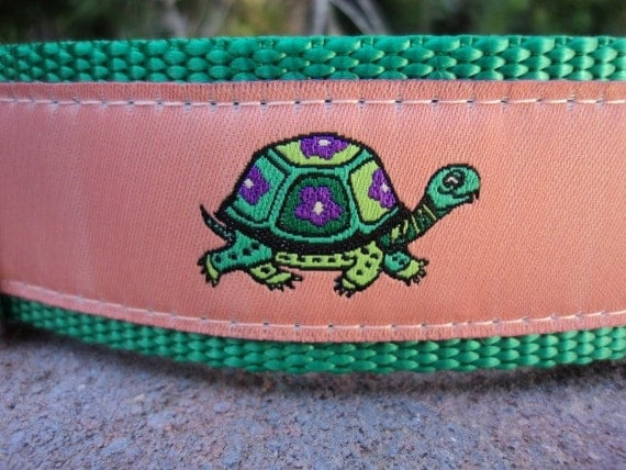 """Sale Big Dog Collar 1.5"""" wide side release buckle adjustable Turtle Tails - martingale style is a cost upgrade"""