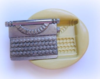 Typewriter Silicone Mold Fondant Clay Soap Mold