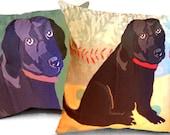 Custom Dog Pillow Primitive Illustration Folk Art 20 x 20 inches