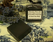 Activated Charcoal & Dead Sea Mud - with Lavender and Tea Tree -Natural - Organic - Handmade - Vegan - Unscented 3.5-4oz