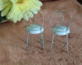 Fairy champagne cage chairs, dollhouse, diorama, faerie garden