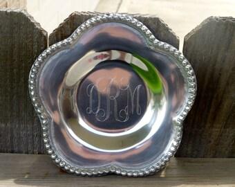 Monogram Jewelry Tray- Bridesmaid Gift - Engraved Tray