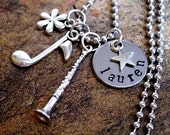 Clarinet Jewelry, Personalized Music Necklace, Clarinet Necklace, Musical Necklace, Hand Stamped Jewelry