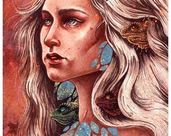 "The Mother of Dragons 8x10"" Print"
