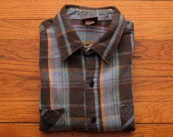 mens vintage Rugged Wear flannel shirt