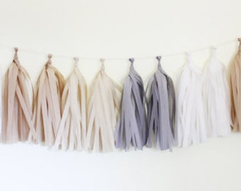 Tissue Tassel Garland Kit - Natural