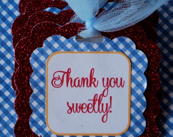 Wizard of Oz Favor Tags - Set of 10 - Personalization Available