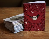 A6 Notebook - Magpie & Berries