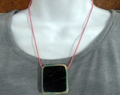Eco Friendly Recycled Skateboard NEcklace - Pink Ball Chain - Punk Skater Fashion by TakeTwoSkateShop