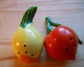 Minature Vegetable Salt and Pepper Shakers - Vintage, Collectible