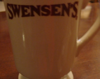 Vintage Restaurant Ware SWENSENS Coffee Mug Cup - footed Coffee cup  Swensens's Restaurant