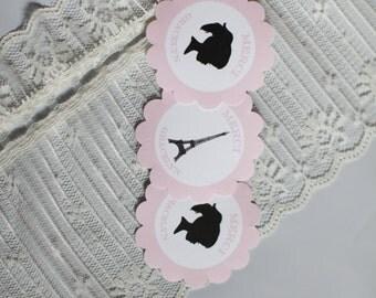 Oooh La La Paris France Inspired Stickers