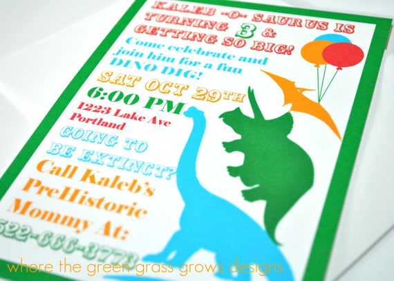 Dinosaur Invitation