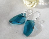 Sterling Silver avant-garde indicolite swarovski earrings