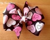 Hearts Galore Large Pinwheel Bow