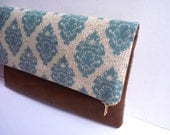 Sale Pretty multi purpose leather clutch bag, in ikat print
