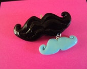 Polymer mustache charm (Big mustache only-custom order)