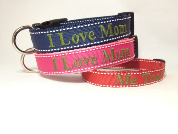 Personalized mothers day gift - Dog Collar for Mothers Day