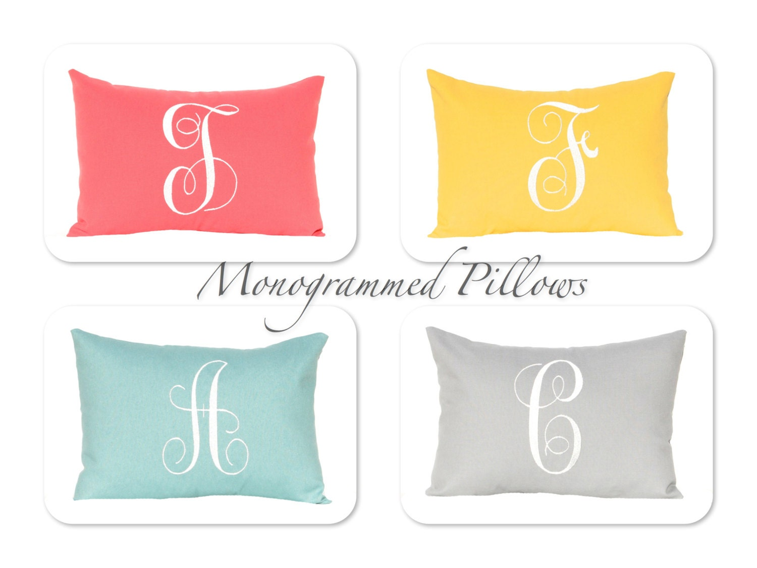 Monogrammed Pillow Cover Throw Pillow Cover by CompanyTwentySix