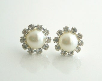 Pearl and Crystal Earstuds