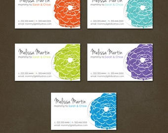 Printable Mommy Calling Cards - Business Cards - Choice of Colors