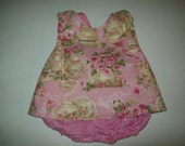 Baby Girl  Custom Boutique Pinafore With Bloomers  in Sizes Newborn - 3T