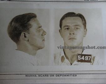 1938 MUG SHOT Allegheney County  Pa Police Criminal 22 Year Old Russian American COAL Miner