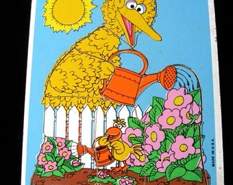 BIG BIRD Playschool 1979 Solid Puzzle  Early Sesame Street  Muppets 9  Pieces