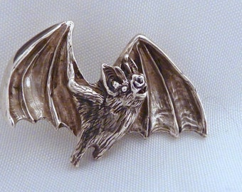 Bat Pendant Sterling Silver