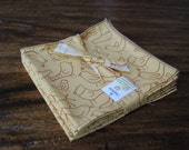 Soft gold Cloth Napkins with little birds