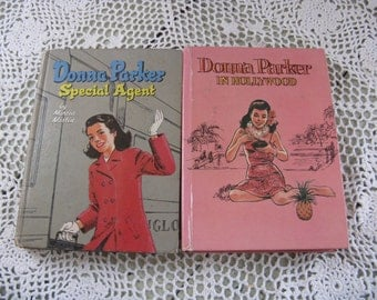 donna parker set mid century fiction young girls fiction hardcover whitman publishing illustrated