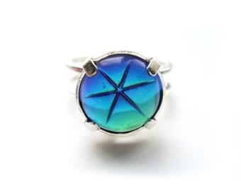 Rare Vintage Swarovski Crystal Star Ring