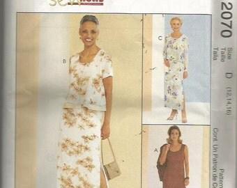 McCall's 2070  Sew News Dress & Jacket Pattern SZ 12-16