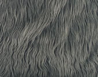 Mongolian Charcoal Faux Fur 18x30 Photography Prop