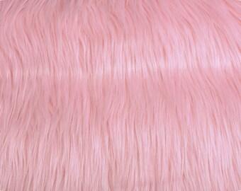 Mongolian Pink Faux Fur 18x20 Photography Prop